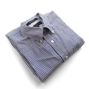TOMMY HILFIGER Men Button Up Dress Shirt M